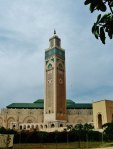 Approaching the Hassan II Mosque in Casablanca.