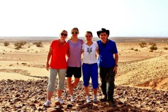 Peter and his family in Morocco on vacation in 2013.