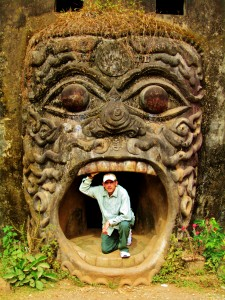 Peter explores ruins in Luang Prabang, Laos - photo taken by Robert McSheffrey.