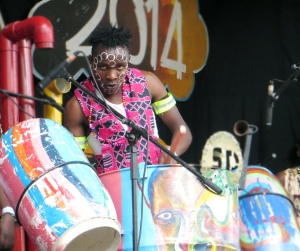 The Slum Drummers preach power through music at the Rift Valley Festival 2014.