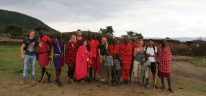Spending time with a Maasai village outside the national park.