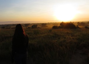 Watching the sunrise over the Pearl of Africa from Queen Elizabeth National Park.
