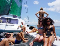 Life on the catamaran in Dar es Salaam.