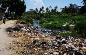 Msimbazi River, Morogoro Road, Tanzania, Dar es Salaam, slum, Africa,