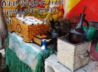 Ethiopian coffee ceremony, traditional Ethiopian coffee, Addis Ababa, Ethiopia