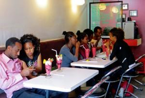cafe, milk shake, Addis Ababa, Ethiopia, youth
