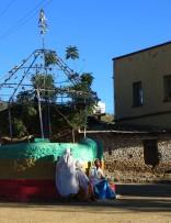 Ethiopia, Aksum, Old Quarter, Ethiopian Orthodox Christianity