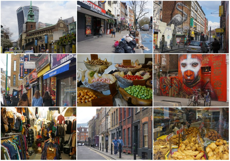 Brick Lane Market, London, London tourism, vintage clothing, Banglatown
