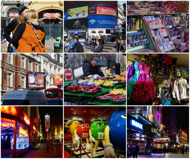 Picadilly Circus, Leicester Square, Soho, downtown London, London tourism