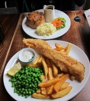 Plough pub, fish and chips, London, English food, London tourism, steak and ale pie