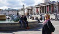 Trafalgar Square, Reina McSheffrey, Trafalgar fountains, downtown London, London tourism