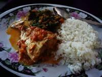 fish, Tanzania, Tanzanian food, Dar es Salaam, coconut, banana, rice, East Africa, East African food
