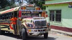 chicken bus, camioneta, public transit Guatemala, transportation in Guatemala, Casillas, Santa Rosa