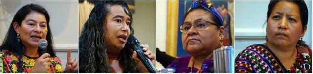 Rigoberta Menchu Tum, Dr. Irma Velasquez, Claudia Samayoa, Hilton Garden Inn, Nobel Women's Initiative, Elizabeth McSheffrey, genocide, Guatemala